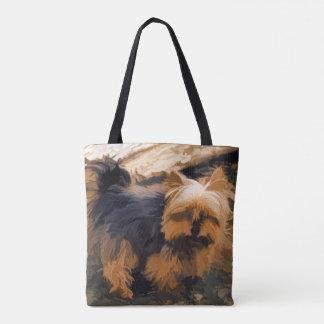 Bolsa Tote Pouco Yorkie   - cão do yorkshire terrier