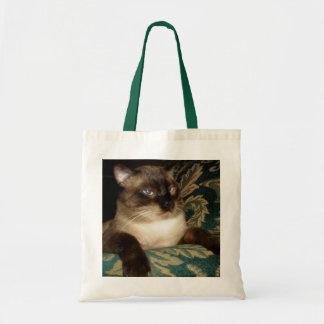 Bolsa Tote Pouty enfrenta o saco do gato Siamese