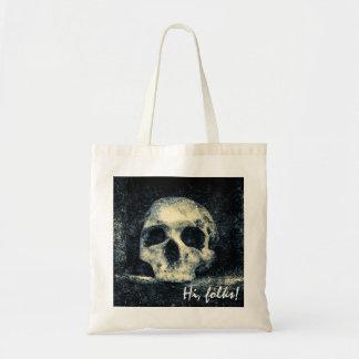 Bolsa Tote Povos do crânio do Dia das Bruxas olá!
