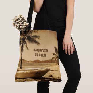 Bolsa Tote Praia de Costa Rica do vintage