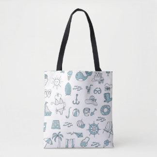 Bolsa Tote Praia do verão no saco