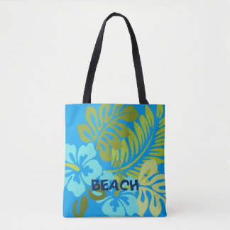 Bolsa Tote Praia havaiana floral tropical colorida do