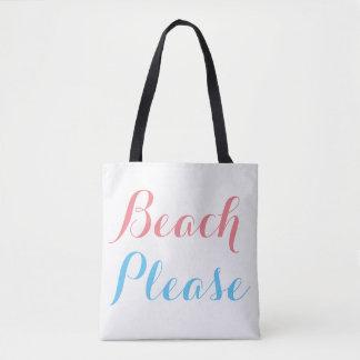 Bolsa Tote Praia por favor