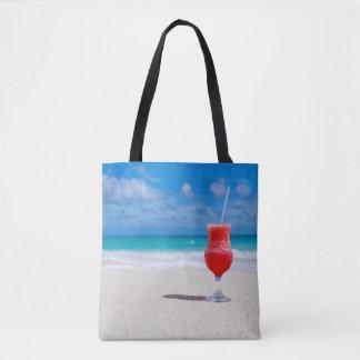 Bolsa Tote Praia tropical bonita do caribe do daiquiri do