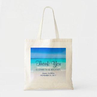 Bolsa Tote Praia tropical com um casamento do mar de turquesa