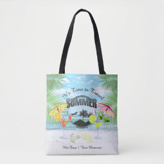 Bolsa Tote Praia tropical, férias de verão | personalizada