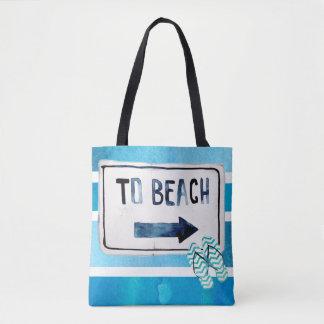 Bolsa Tote Prancha da aguarela da reunião de família da praia