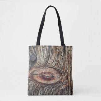 Bolsa Tote Prancha da madeira toda sobre - imprima a sacola