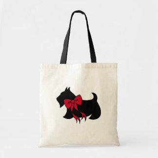 Bolsa Tote Presente da sacola de Terrier do Scottish do Natal