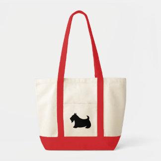 Bolsa Tote Presente da sacola do cão de Terrier Scotty do