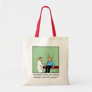 Bolsa Tote Presente de confecção de malhas da sacola do humor