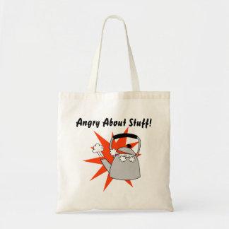 Bolsa Tote Presente engraçado da sacola irritada para a raiva
