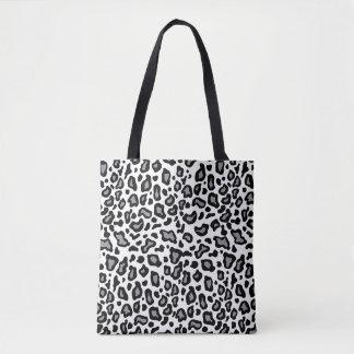 Bolsa Tote Presente retro da sacola do impressão do leopardo