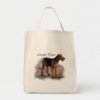 Bolsa Tote Presentes da arte de Airedale Terrier