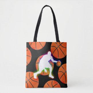 Bolsa Tote Presentes do esporte do jogador de basquetebol |