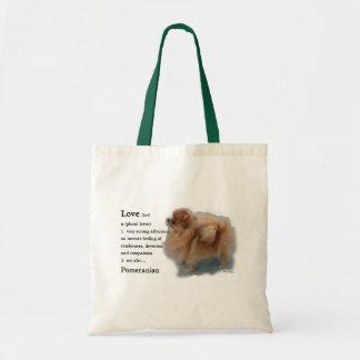 Bolsa Tote Presentes dos amantes de Pomeranian