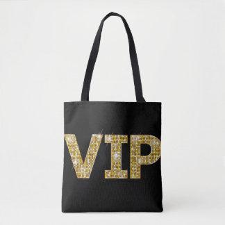 Bolsa Tote Preto & brilho VIP do ouro
