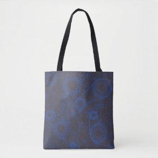 Bolsa Tote Preto e azul