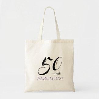 Bolsa Tote Preto e roxo 50 e aniversário fabuloso