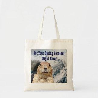 Bolsa Tote Previsão do primavera de Groundhog