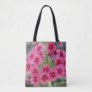 Bolsa Tote Primula vermelho floral