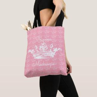 Bolsa Tote Princesa Cor-de-rosa-n-Branca Coroa