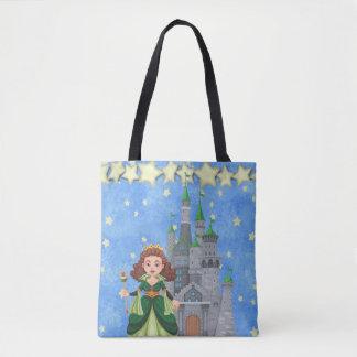 Bolsa Tote Princesa do livro de histórias no verde com