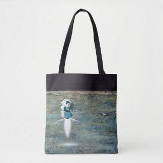 Bolsa Tote Programa Apolo - conceito do artista da missão da