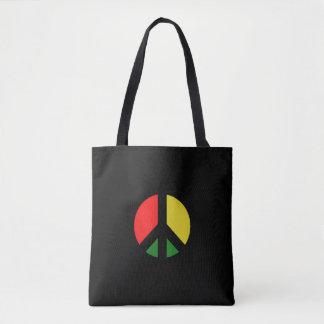 Bolsa Tote Proibição de Rasta o símbolo de paz da bomba CND