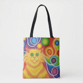 Bolsa Tote Psy-gato-delic por todo o lado na sacola
