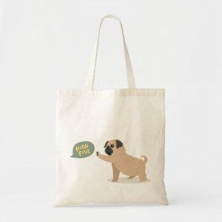 Bolsa Tote Pug bonito do bebê que faz a sacola da elevação