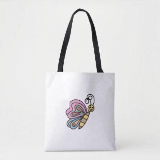 Bolsa Tote Punho preto inspirado pela sacola das borboletas