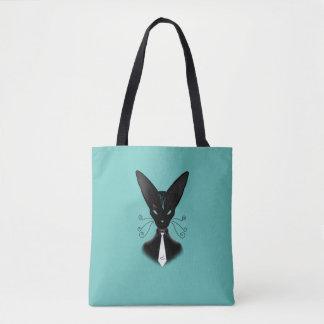 Bolsa Tote Punk Siamese do gato preto