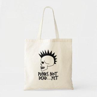 Bolsa Tote Punks nao inoperantes… contudo branco do crânio