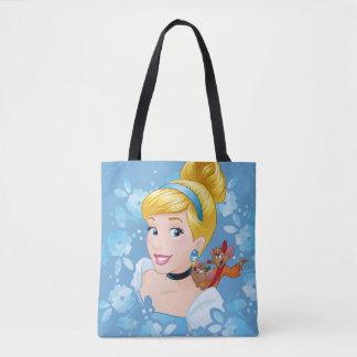 Bolsa Tote Quadro e ratos da flor de Cinderella |