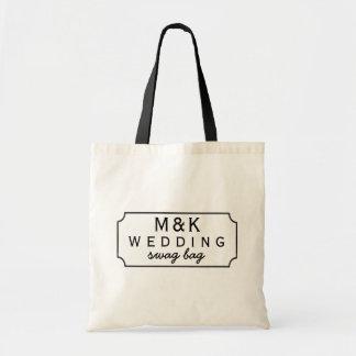 Bolsa Tote Quadro preto saco Wedding quadro dos ganhos do