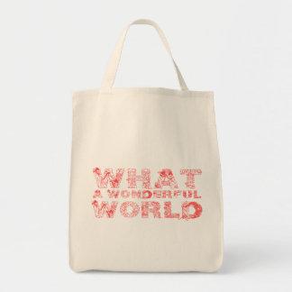 Bolsa Tote Que mundo maravilhoso