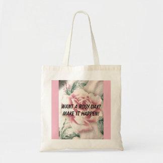 Bolsa Tote Queira um dia rosado? Faça-o acontecer!