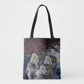 Bolsa Tote Quem é esses gato e sacola das corujas