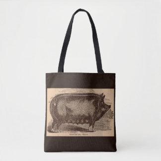 Bolsa Tote Raça do século XIX da porca de Berkshire do