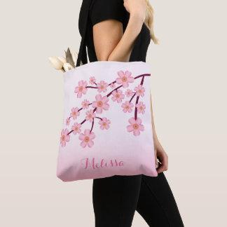 Bolsa Tote Ramo floral de Sakura da flor de cerejeira