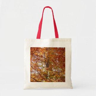 Bolsa Tote Ramos da natureza alaranjada do outono das folhas