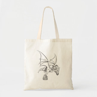 Bolsa Tote Raptor/tribal voados