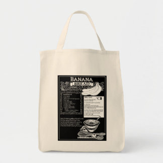 Bolsa Tote Receita do pão de banana
