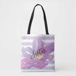 Bolsa Tote Receptor feito sob encomenda floral da lavanda