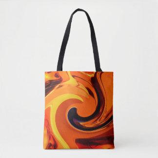 Bolsa Tote Redemoinho bonito colorido do ouro da arte