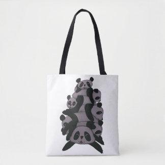Bolsa Tote Refrigeração das pandas (black&white)