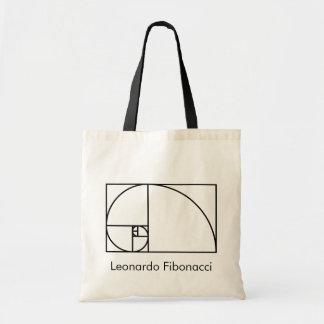 Bolsa Tote Relação dourada de Fibonacci - arte matemática