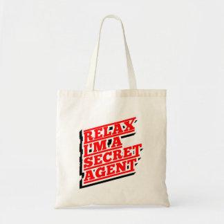 Bolsa Tote Relaxe-me são um agente secreto engraçado