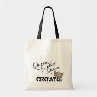 Bolsa Tote Reparo do Queens outras coroas do Queens